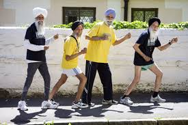 elderly sikh  runners